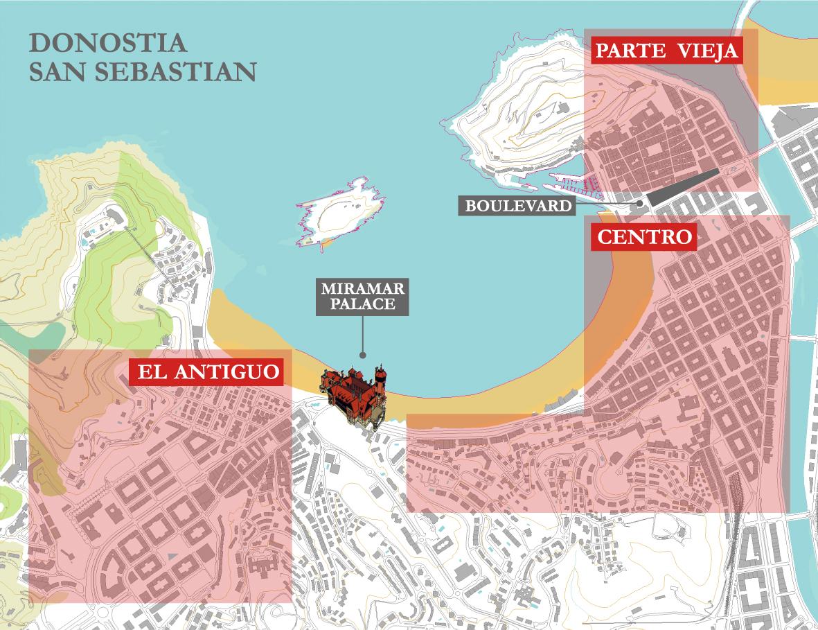 San Sebastian Map Of Spain.Accommodation Esmcs Summer School 2011